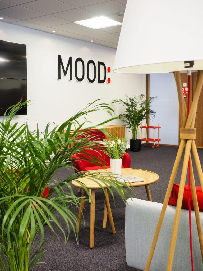 Mood Media Finland, toimiston sisustussuunnittelu